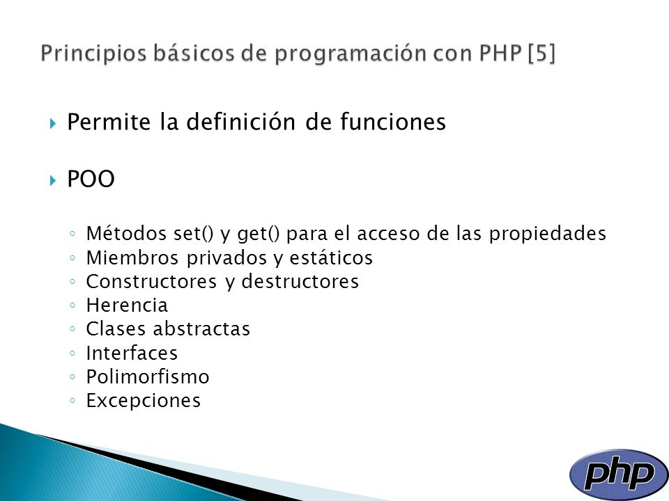 Principios básicos de programación con PHP [5]